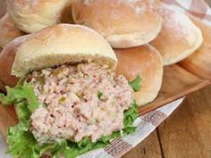 Ham Salad Sandwiches Recipe easter-leftover-ham-lamb-egg-recipes margetmkd chelseamdb into-the-cooking-pan Ham Salad Recipes, Egg Recipes, Pork Recipes, Cooking Recipes, Amish Recipes, Dutch Recipes, Recipies, Sandwich Spread, Salad Sandwich