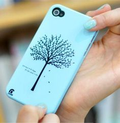 New Rhinestone Tree Protective Back Case for Iphone4 4s - Apple Accessories - Funny Gadgets Free shipping
