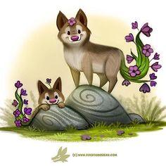 Daily Paint 1247. Wolfsbane  #cute #animals #art #illustration