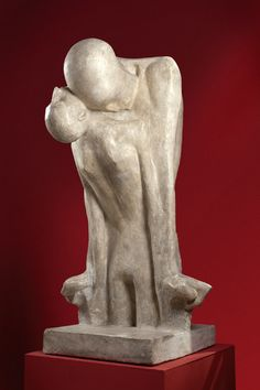 "Xawery Dunikowski, ""Fate,"" Marble Sculpture, ca. 1900."