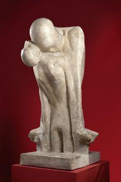 "Xawery Dunikowski, ""Fate,"" Marble Sculpture, ca. 1900."