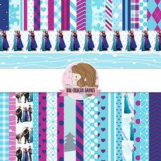 Loja: http://www.elo7.com.br/papel-digital-frozen/dp/4E6B15 | #scrapbooking #papel #frozen #girl #menina #bday