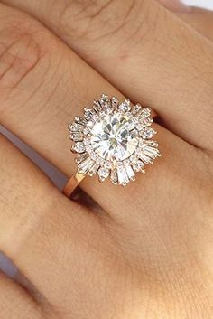 Diamond Engagement Rings 5 Must-Read Reasons Why a Halo Engagement Ring Deserves to Be On Your Wish List - You already know that halo engagement rings are beautiful … but you probably don't know about these spectacular benefits! Big Engagement Rings, Big Wedding Rings, Antique Wedding Rings, Wedding Rings Solitaire, Beautiful Engagement Rings, Antique Engagement Rings, Beautiful Rings, Wedding Jewelry, Wedding Bands