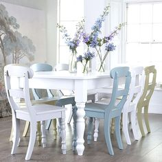 Something Interesting About A Table With Mismatched Chairs No 2 Alike Hmmm