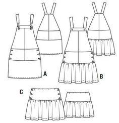 """BurdaEasy Jumper and Skirt FS/2014 #5A, B, C"" - Women's Digital Patterns"