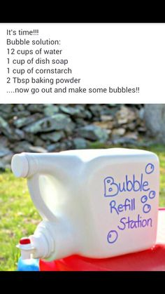 Bubble refill station Diy Cleaners, Fun Activities For Kids, Toddler Crafts, Detergent Bottles, Laundry Detergent, Crafts To Do, Crafts For Kids, Inspiration For Kids, Summer Fun