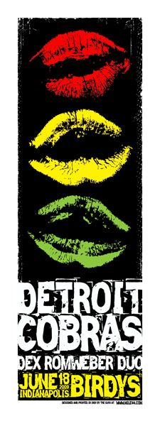 Detroit cobras music gig  posters | Gig Posters