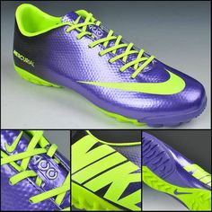 49f55ae5a Buy Deep Purple fluorescent green Nike Mercurial Vapor IX TF Soccer Shoes  On Sale