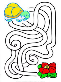 Preschool Learning Activities, Infant Activities, Kids Learning, Activity Sheets For Kids, Mazes For Kids, Printable Mazes, Drawing Lessons For Kids, Maze Puzzles, Picture Puzzles