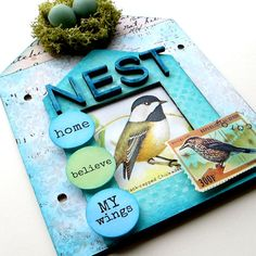 Brand New Kit!  Fly Home Little Bird Accordian Book Kit Save 25%
