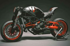 Check out the front fork on the KBike Factory Custom Ducati Monster