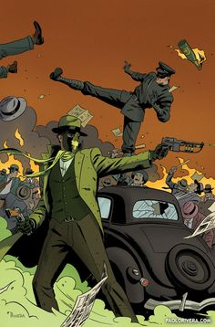 (W) Mark Waid (A) Ronilson Frere., Cover by Paolo Rivera, This Issue Is Near mint condition , The Story .The grand finale -- and the ultimate victor stands bloodied but unbowed! Will it be Britt Reid -- or the Green Hornet? Comic Movies, Comic Book Characters, Comic Book Heroes, Comic Character, Comic Books Art, Book Art, Kanvas Art, Absorbing Man, Green Hornet
