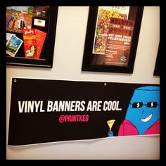 PrintKEG is now printing banners. Vinyl Banners, Banner Printing, Banner Ideas, Cool Stuff, Frame, Prints, Blog, Home Decor, Picture Frame