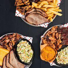 Pork ribs & wings. Pork & ribs. Or pork & more pork. Its the new Pork Plates at Sonnys. Try em today.