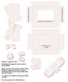mini printable Baby Layette set