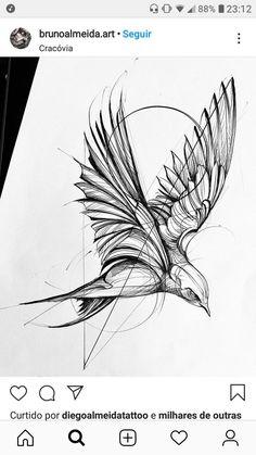 Sketch Style Tattoos, Tattoo Sketches, Tattoo Drawings, Pencil Art Drawings, Bird Drawings, Mini Tattoos, Small Tattoos, Future Tattoos, Tattoos For Guys