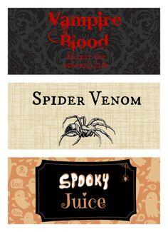 Free Halloween Decorations halloween decorations free printables Fun Free Printable Halloween Bottle Labels