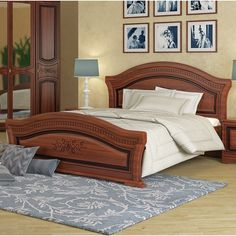 August Grove Cormiers Queen Platform Bed with Mattress Color: Walnut Bedroom Furniture Sets, Bed Furniture, Bedroom Sets, Furniture Design, Furniture Layout, Wood Bed Design, Bedroom Bed Design, Sofa Design, Queen Platform Bed