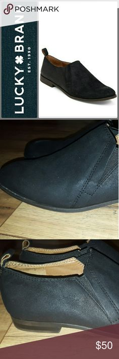 LUCKY BRAND ERIKAH NUBUCK BLACK BOOTIES SZ BRAND NEW NEVER WORN BOOTIES!! PLEASE FEEL FREE TO MAKE AN OFFER!! Lucky Brand Shoes Ankle Boots & Booties