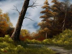 Bob Ross painting <3