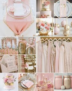 Pink and Gold Wedding Colours Pink and Gold Wedding Colours<br> Pink and gold is a match made in colour heaven, and together they embody everything you want your wedding day to be: elegant, fun, glamourous and glitzy! Décoration Rose Gold, Rose Gold Theme, Gold Wedding Colors, Pink And Gold Wedding, Gold Wedding Theme, Blush And Gold, Rose Wedding, Wedding Color Schemes, Wedding Themes