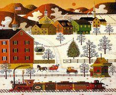Sunnyville Christmas ~ Charles Wysocki