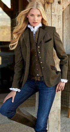 Cowgirl style things to wear in 2019 английская мода, стиль Fashion Moda, Look Fashion, Winter Fashion, Womens Fashion, Unique Fashion, Mode Outfits, Winter Outfits, Fashion Outfits, Fashion Trends