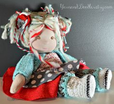 Waldorf Inspired Doll 16 Inch MADE TO ORDER by YarnandDoodles, $279.99