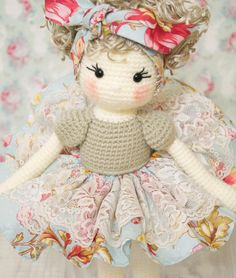 Reserved FREE SHIPPING Amigurumi crochet doll Gorgeous