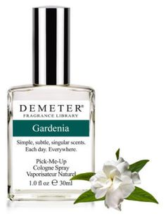 Gardenia Without Indole, you get a big, lovely, creamy, happy flower. Consequently, Demeter's Gardenia is unlike traditional gardenia perfumes. Demeter's Gardenia is the delicate scent of fresh blooming gardenias still on the bush. Instead of being overpowering, we have created a classic, rich and creamy floral scent.