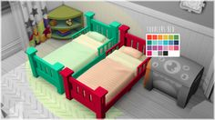 My Sims 4 Blog: Toddler Bed Recolors by FlamingBlaze