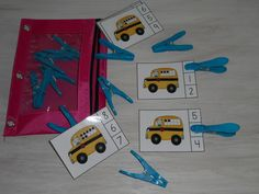 FREEBIE!!!  School Bus Count and Clip Cards (Sets to 10)  #backtoschool  #counting  #numerals    #KampKindergarten http://www.teacherspayteachers.com/Product/School-Bus-Count-and-Clip-Cards-Sets-to-10-1331469