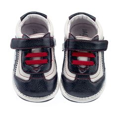 Jack & Lily: My Shoes Nathan Trainer Infant/Toddler (White/Black)