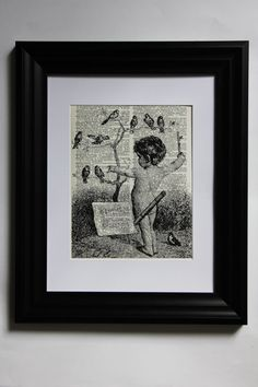 Child Conducting A Bird Orchestra on a Branch by IndigoLaneDesigns, $7.00