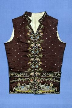 Waistcoat 1790s The Museum of Fine Arts, Boston