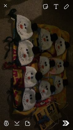 Children's snowman hats
