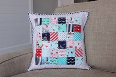 Tasha Noel Scrappy Quilted Pillow COVER - PREORDER