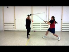 Longsword flow drill, static distance - Meyer and Roger Norling!