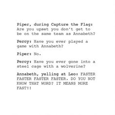 Have you ever played a game with Annabeth?