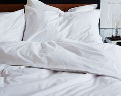 Editorial Duvet Cover - White