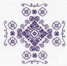 Modèle motif Holbein. Broderie Holbein ou point Holbein.