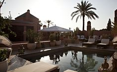 Riad Royal Mansour rooftop swimming pool, Marrakech