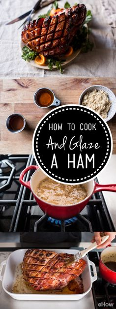 Baking a ham is something every cook should know how to do. A simple brown sugar glazed ham is the ultimate dinner party or holiday main course. Its sweet and savory flavors, and its simple downright deliciousness. steals the show! All you'll need is a smoked ham and a few other ingredients you probably have in your pantry right now. So yes, you can leave those honey baked hams at the store! I promise that your homemade ham will be so much yummier!
