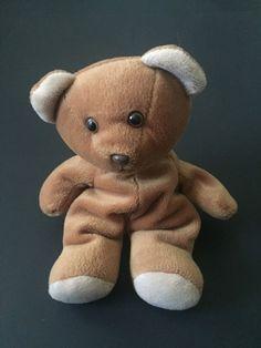 A&A Beanie Teddy Bear Plush Stuffed Animal Light Brown Beige Toy #AA #AllOccasion
