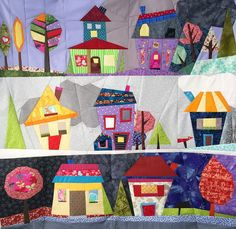 Quilt Art Designs Wonky House quilt