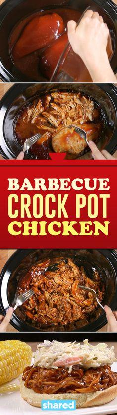Barbecue Crock Pot Chicken