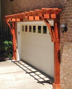 The pergola kits are the easiest and quickest way to build a garden pergola. There are lots of do it yourself pergola kits available to you so that anyone could easily put them together to construct a new structure at their backyard. Garage Door Colors, Best Garage Doors, Dream Garage, Garage Door Accessories, Garage Door Decor, Design Garage, Door Design, Diy Pergola, Pergola Ideas