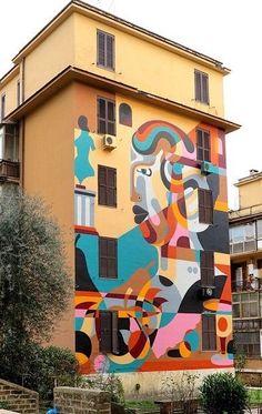 James Reka, Roma Street Art Graffiti, Street Artists, Tag Art, Urban Art, Rue, Contemporary Artists, Abstract, Rome City, Painting