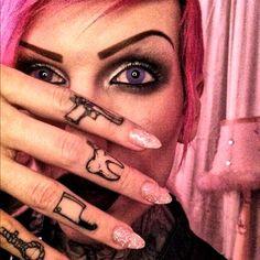 gothic girl tattoo