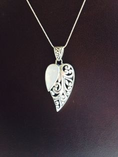 Mother of Pearl and Deco Detail Pendant in Sterling by balijewels, $59.00  Another beautiful artwork by Balinese Artisans... designed by Mariella Scerri